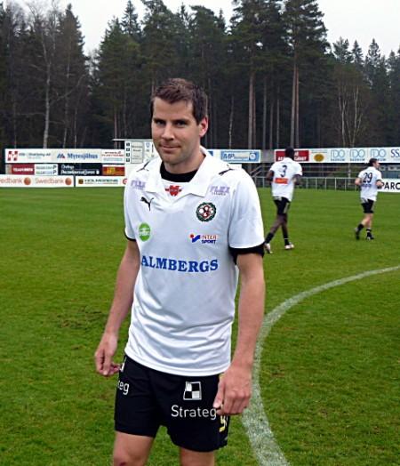Stefan avgjorde cupmatchen mot Myresjö med ett skott från straffområdesgränsen.