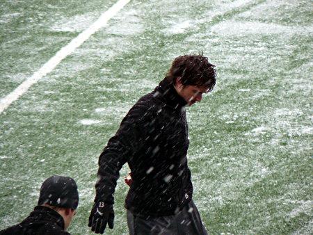 Robert Walker i snögloppet. Exponeringstiden gjorde nog att det ser något snöigare ut än vad det i själva verket var.
